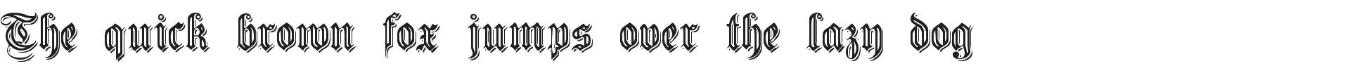Free Germanic Font Embossed