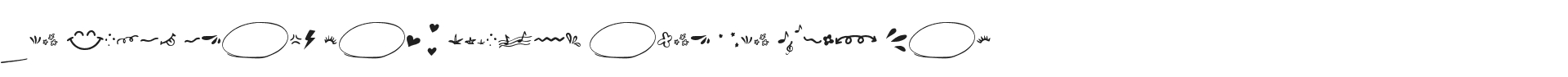 Fancy Font Symbol