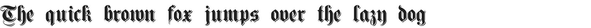 Free Germanic Font Shadowed