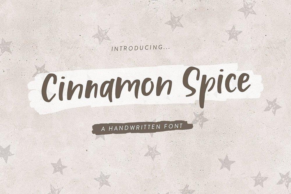 60+ Free Thanksgiving Fonts 2020 [Updated] - cinnamon spice handwritten