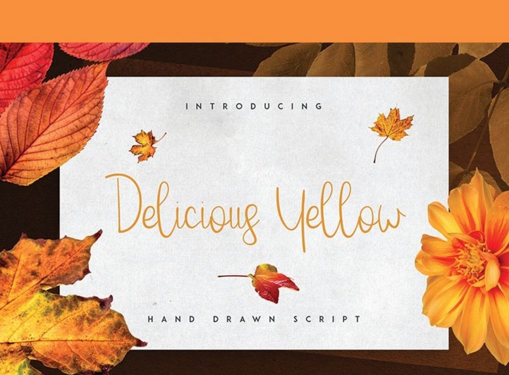 60+ Free Thanksgiving Fonts 2020 [Updated] - delicious yellow font