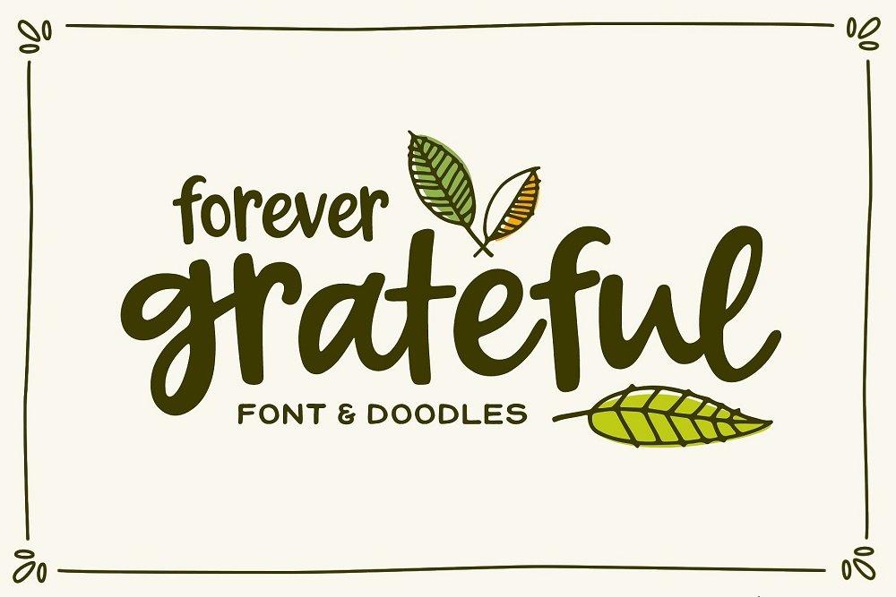 60+ Free Thanksgiving Fonts 2020 [Updated] - forever grateful font doodles