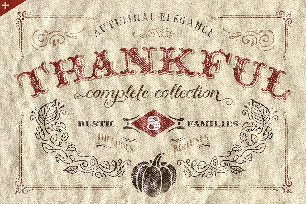 60+ Free Thanksgiving Fonts 2020 [Updated] - thankful complete