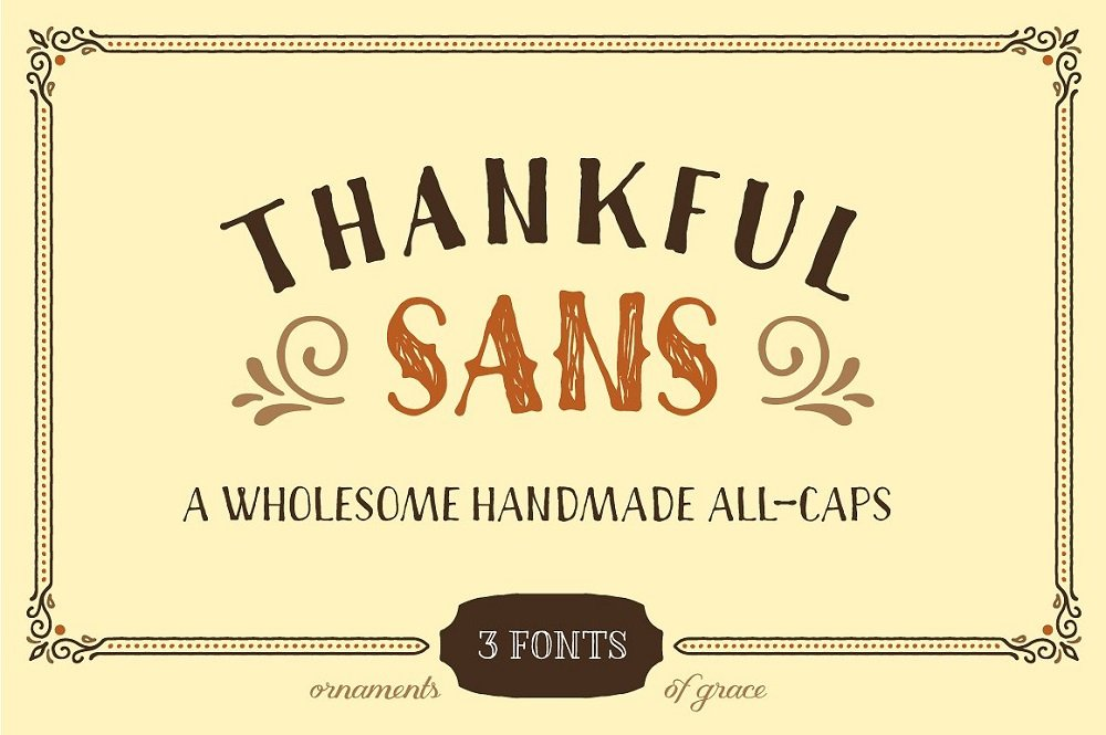 60+ Free Thanksgiving Fonts 2020 [Updated] - thankful sans