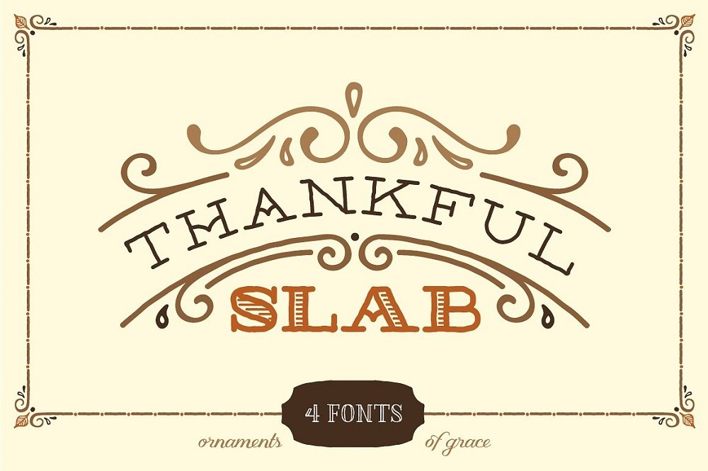 60+ Free Thanksgiving Fonts 2020 [Updated] - thankful slab