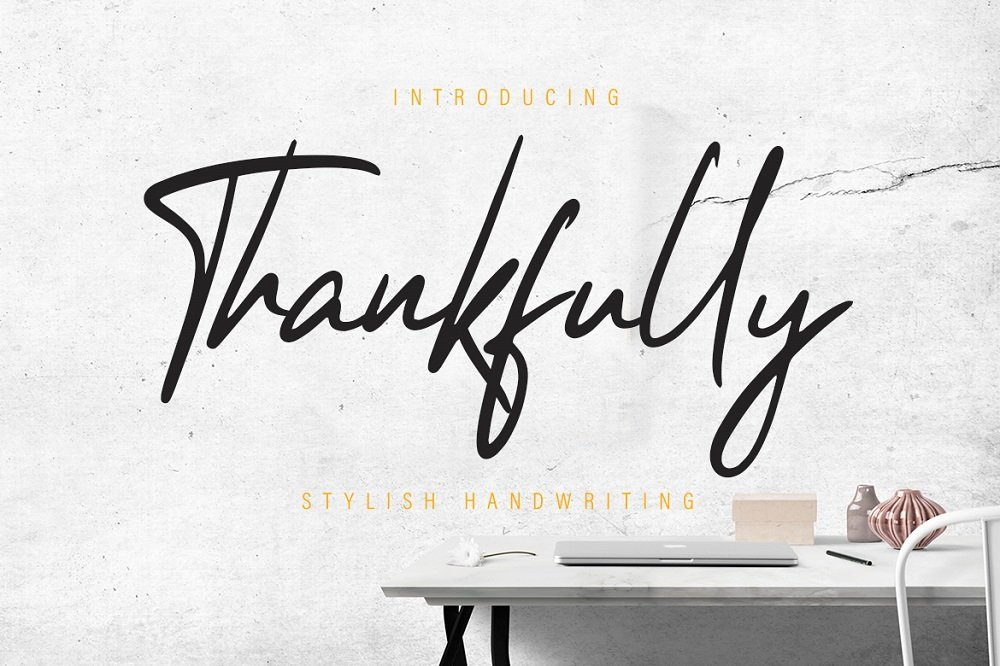 60+ Free Thanksgiving Fonts 2020 [Updated] - thankfully stylish script font