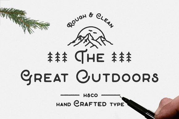 60+ Free Thanksgiving Fonts 2020 [Updated] - the great outdoors font