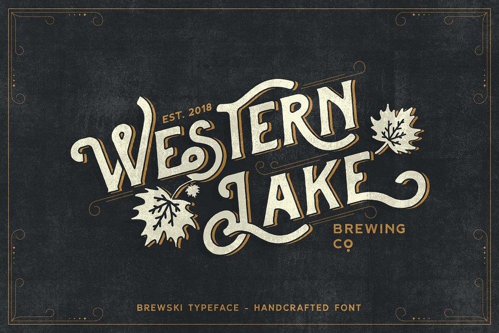 60+ Free Thanksgiving Fonts 2020 [Updated] - western lake brewski typeface