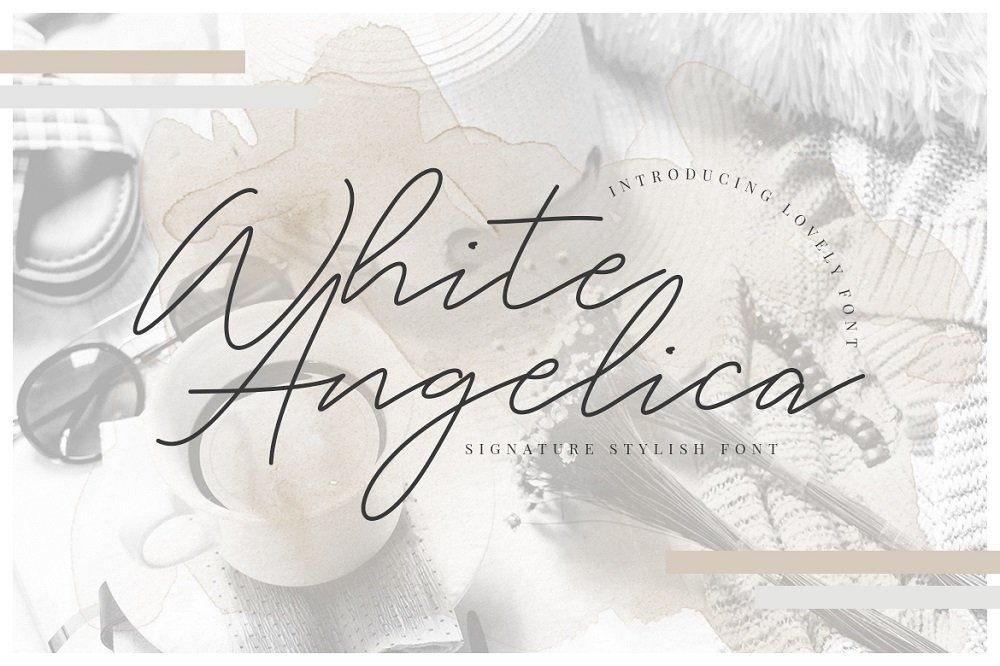 60+ Free Thanksgiving Fonts 2020 [Updated] - white angelica signature font