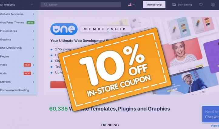 Template Monster Promo Code 10% OFF.