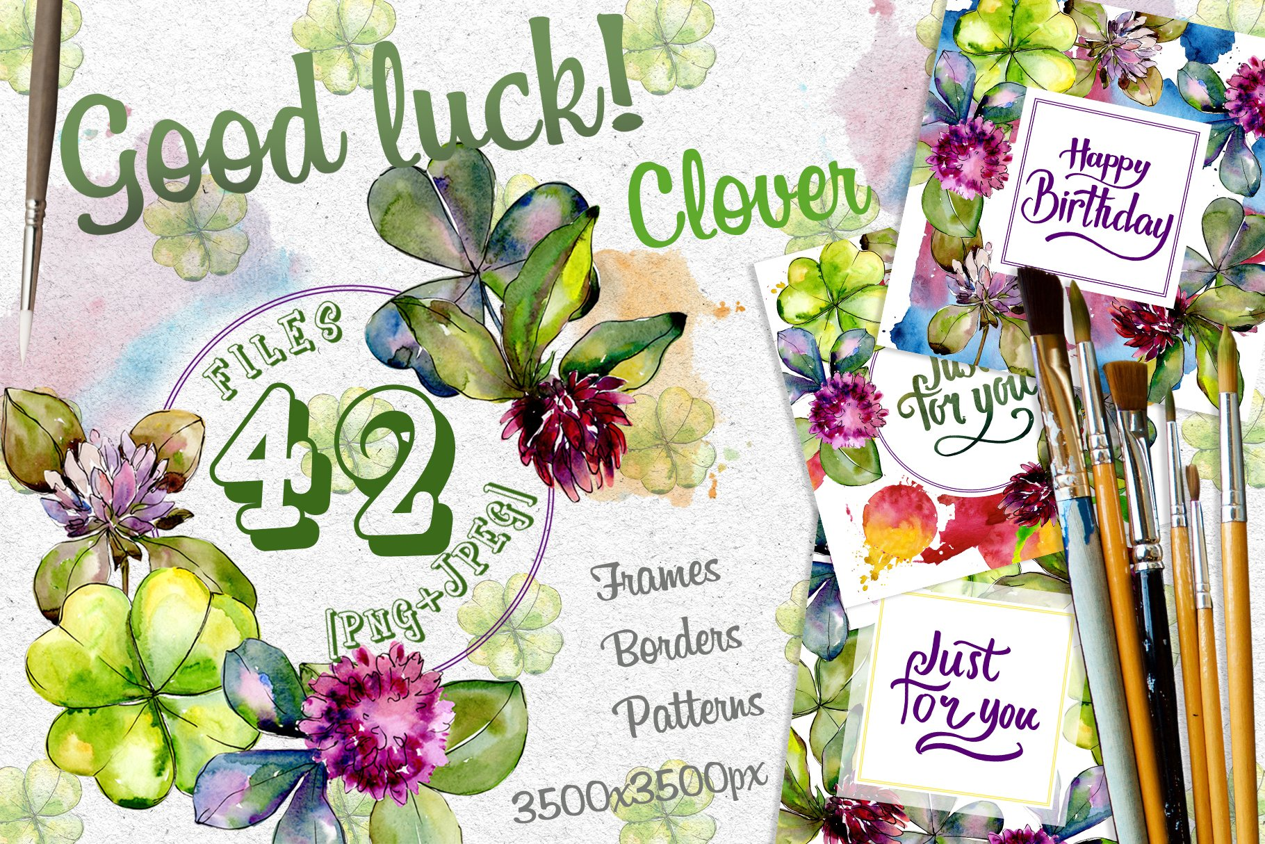 Clower PNG watercolor set - $5 ONLY - cover 1 1