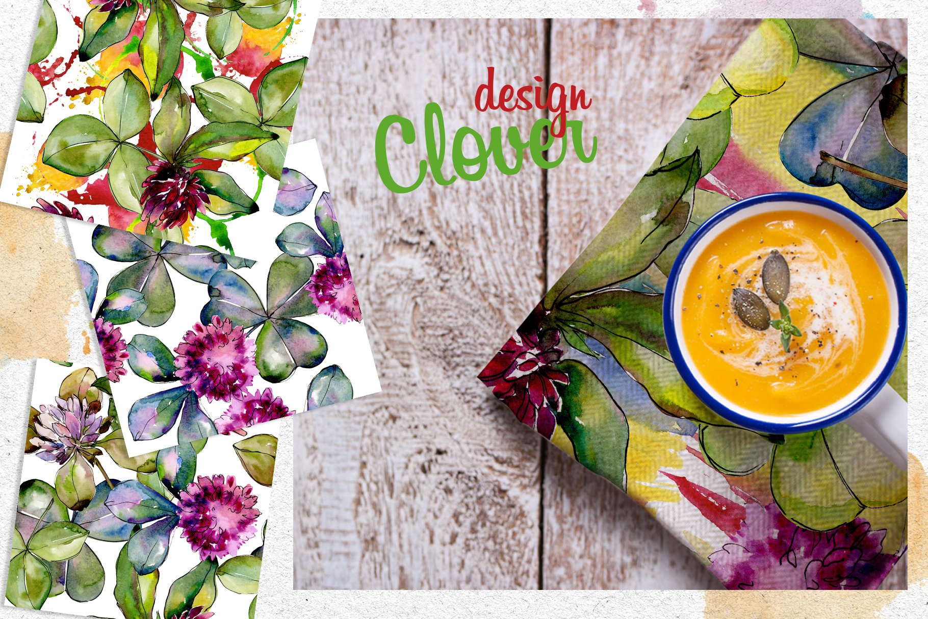 Clower PNG watercolor set - $5 ONLY - cover 3 2