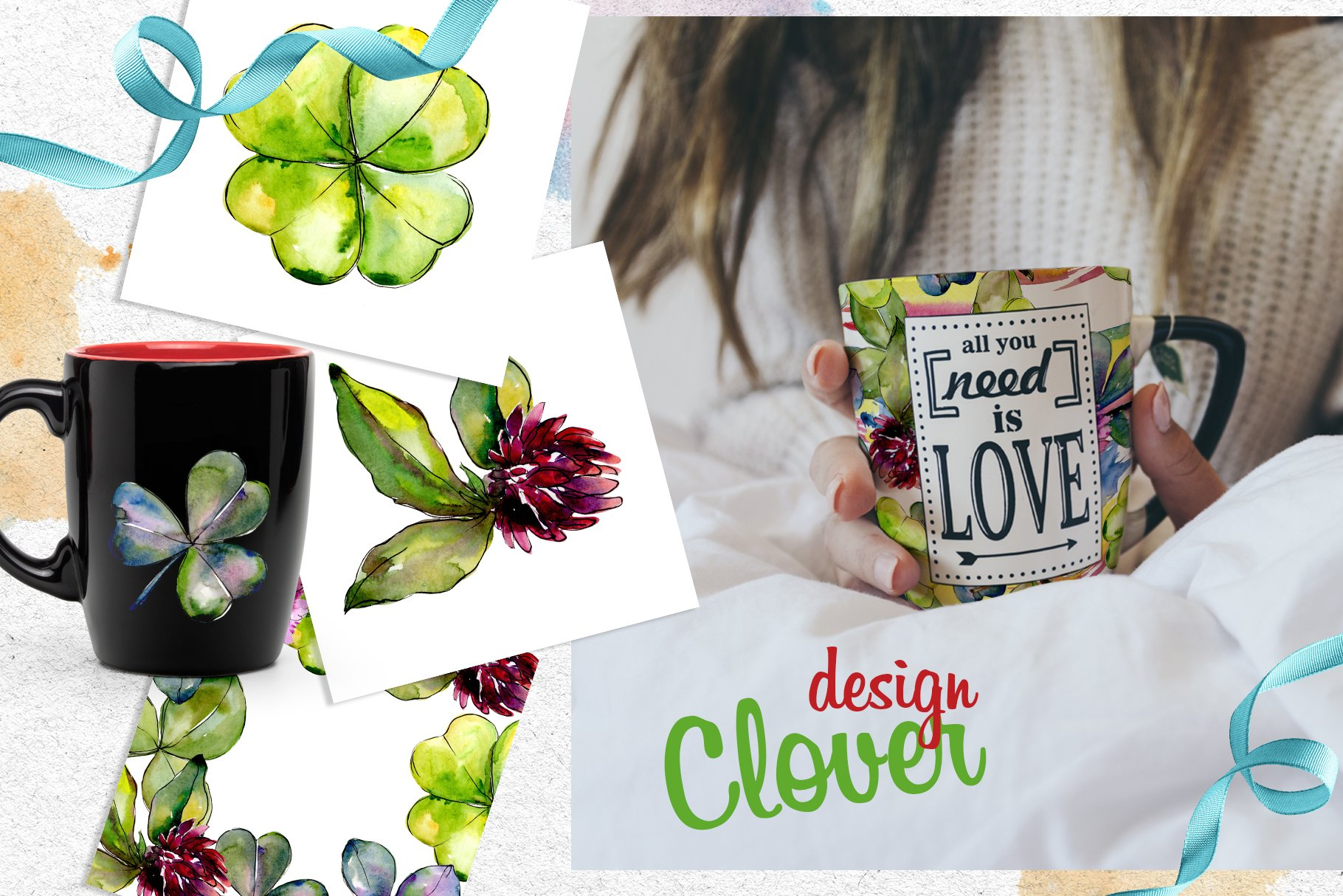 Clower PNG watercolor set - $5 ONLY - cover 5 1