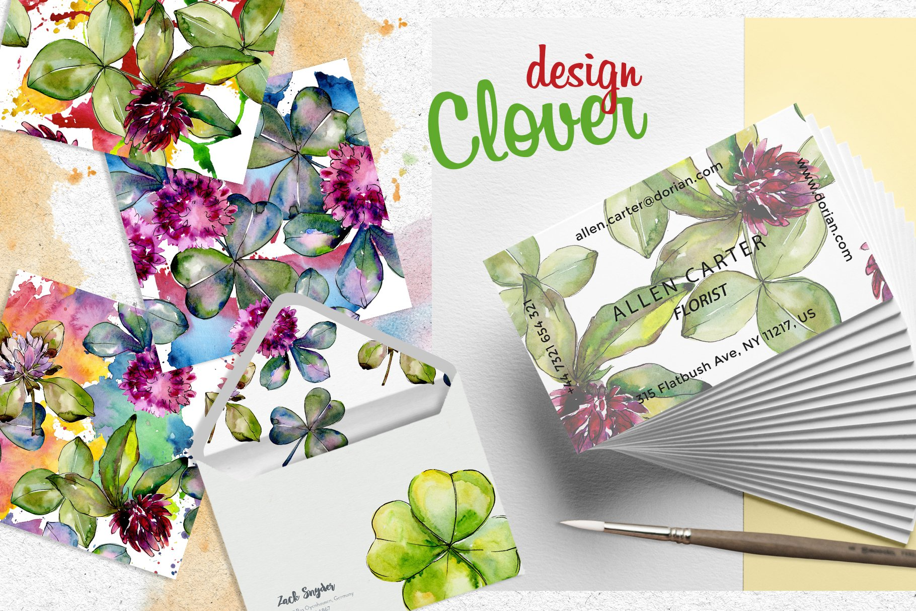 Clower PNG watercolor set - $5 ONLY - cover 6 2