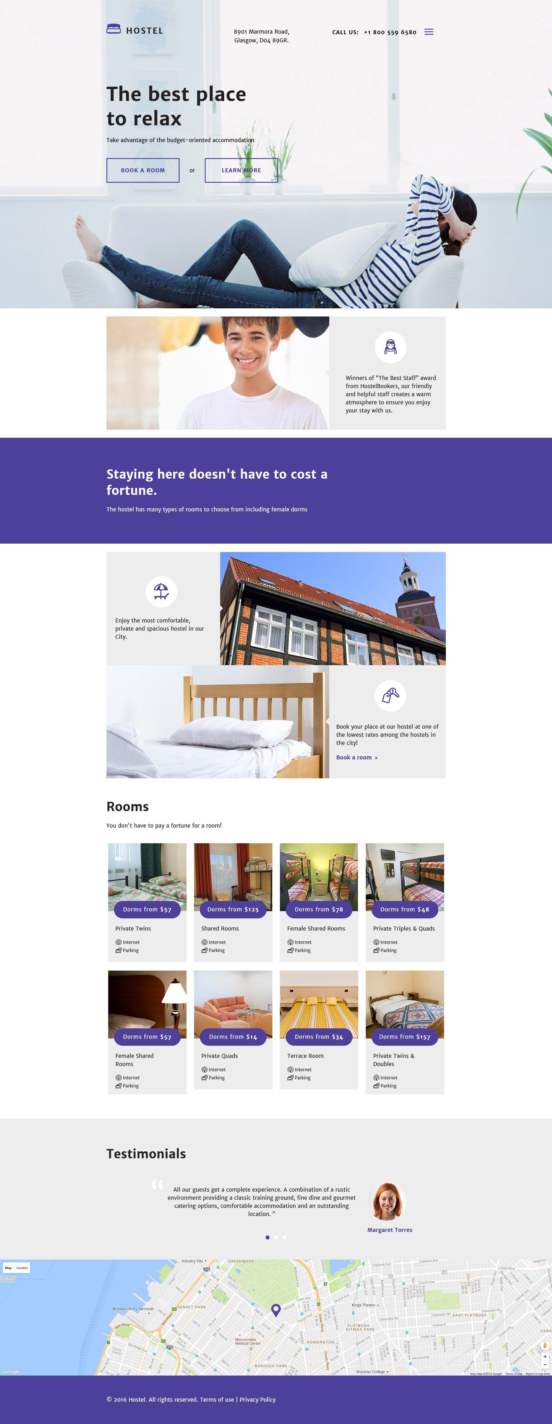 10 HTML Website Themes - $19 - hotels responsive website template 58253 original