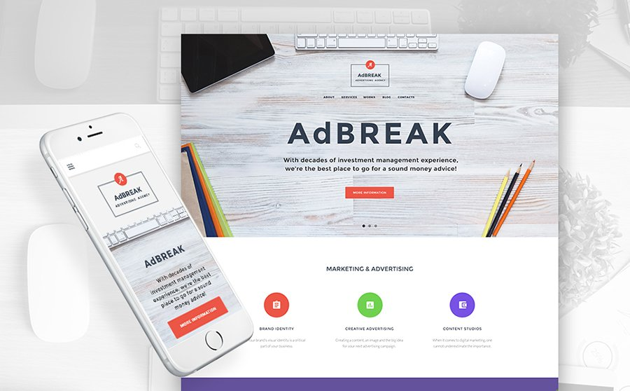 AdBreak - Advertising Agency WordPress Theme