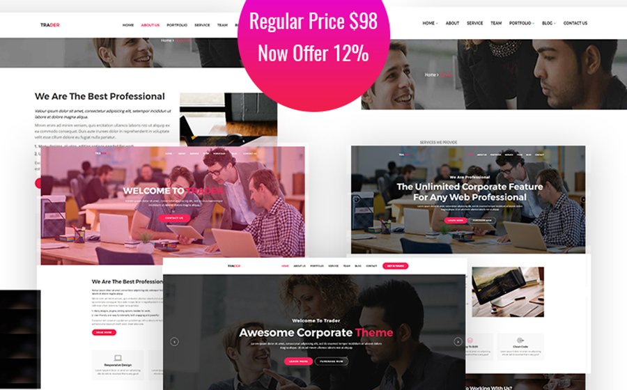 Trader - Responsive Creative WordPress Theme