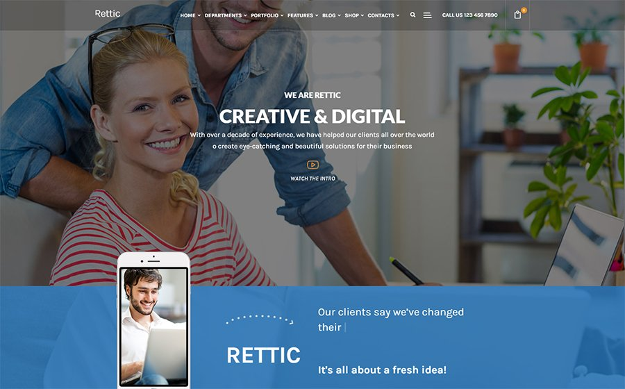 Rettic - Creative Agency WordPress Theme