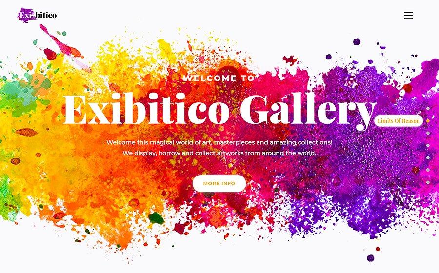Exibitico - Art Gallery Elementor WordPress Theme
