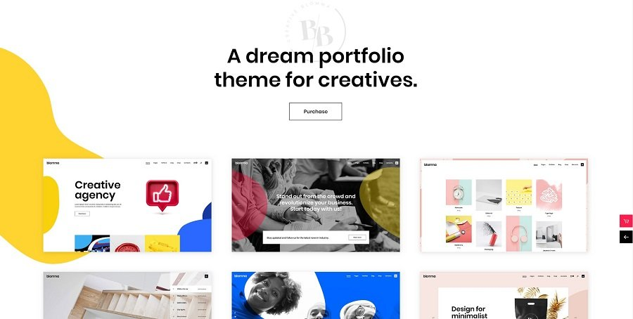 Top 35+ Creative Agency WordPress Themes - blomma