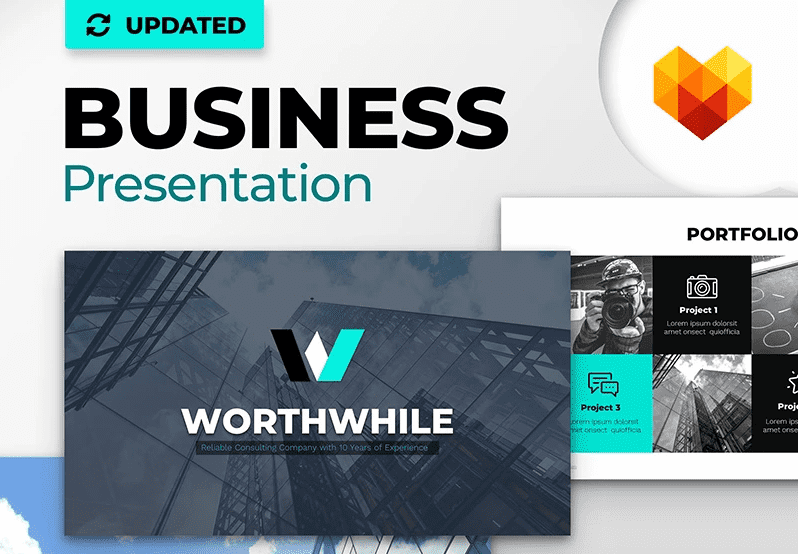 50 Creative PowerPoint Templates in 2020: Free And Premium. Best Creative Presentation Ideas - powerpoint template 13