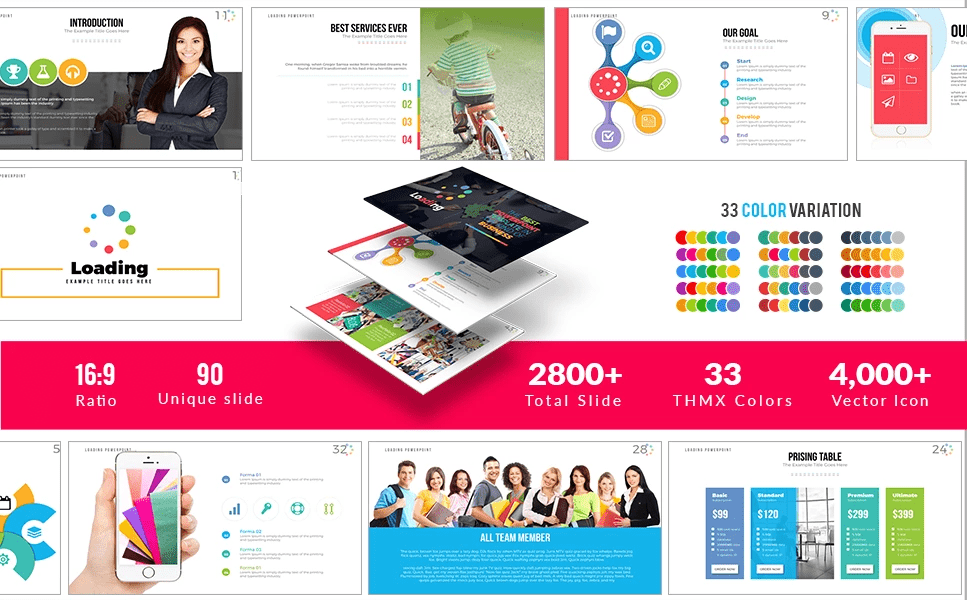 50 Creative PowerPoint Templates in 2020: Free And Premium. Best Creative Presentation Ideas - powerpoint template 20