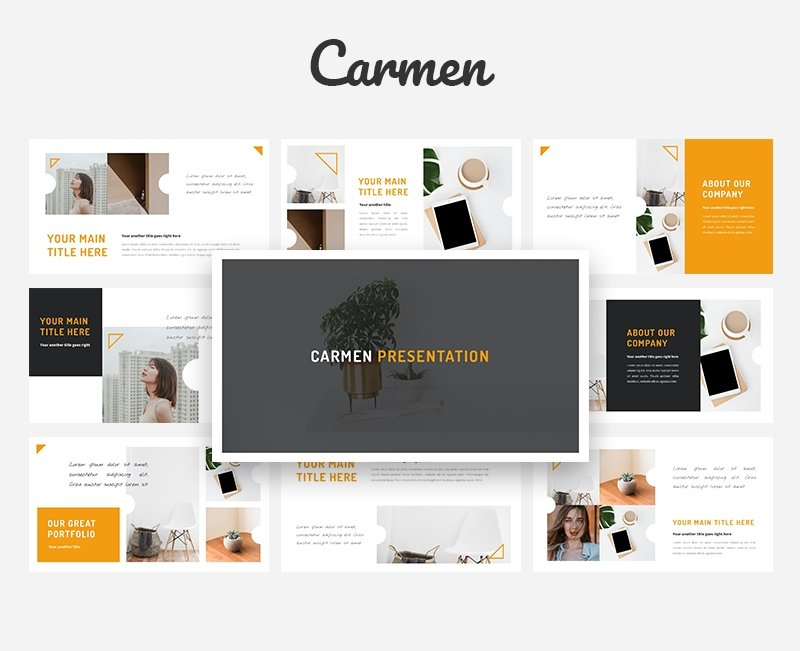 50 Creative PowerPoint Templates in 2020: Free And Premium. Best Creative Presentation Ideas - powerpoint template 22