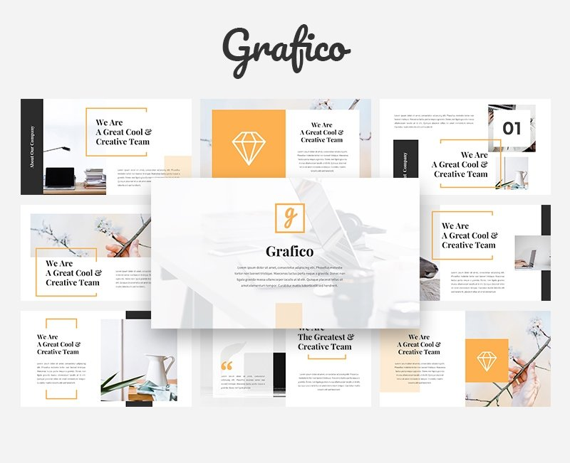 50 Creative PowerPoint Templates in 2020: Free And Premium. Best Creative Presentation Ideas - powerpoint template 26