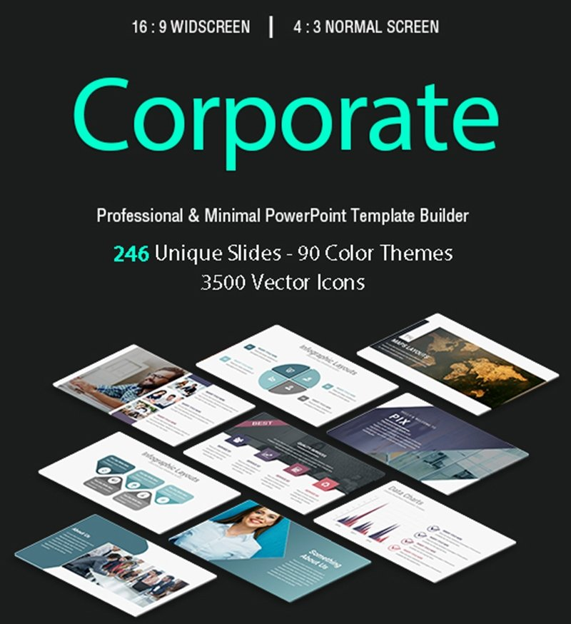 50 Creative PowerPoint Templates in 2020: Free And Premium. Best Creative Presentation Ideas - powerpoint template 31