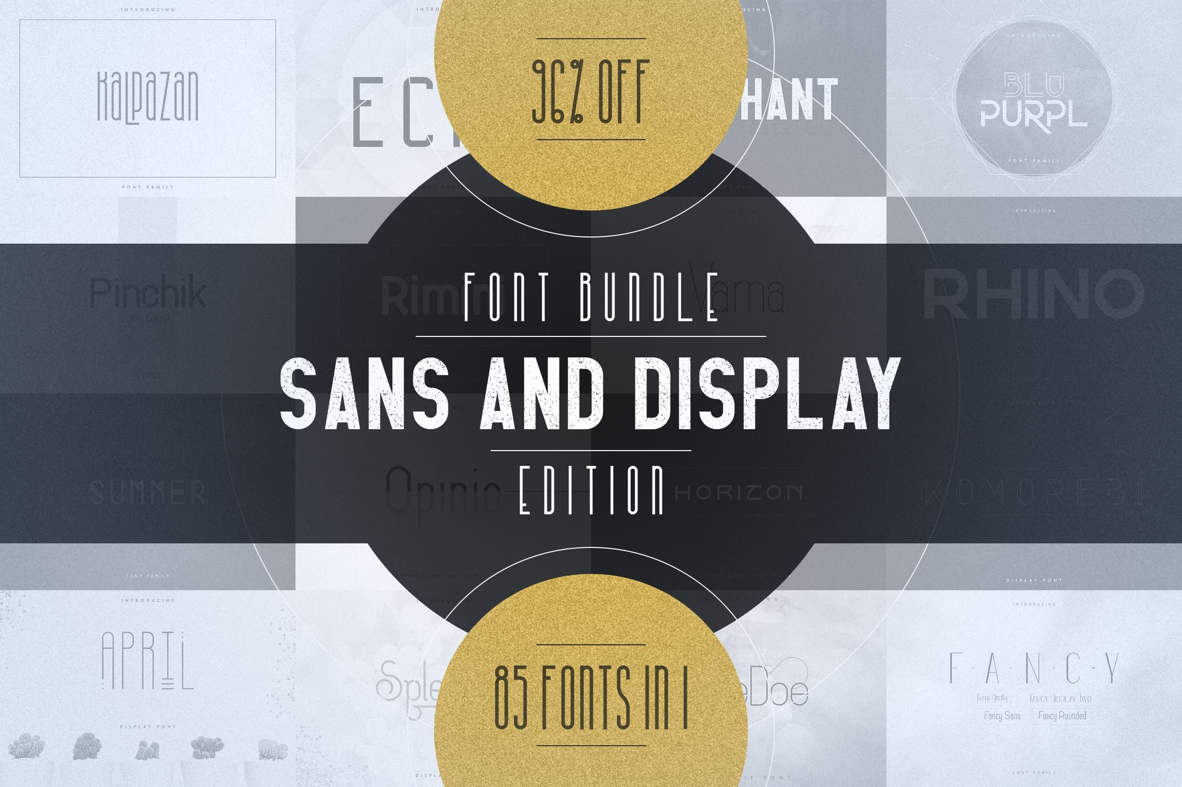 Digital Display Fonts - 85 Sans & Display Fonts Bundle - 0