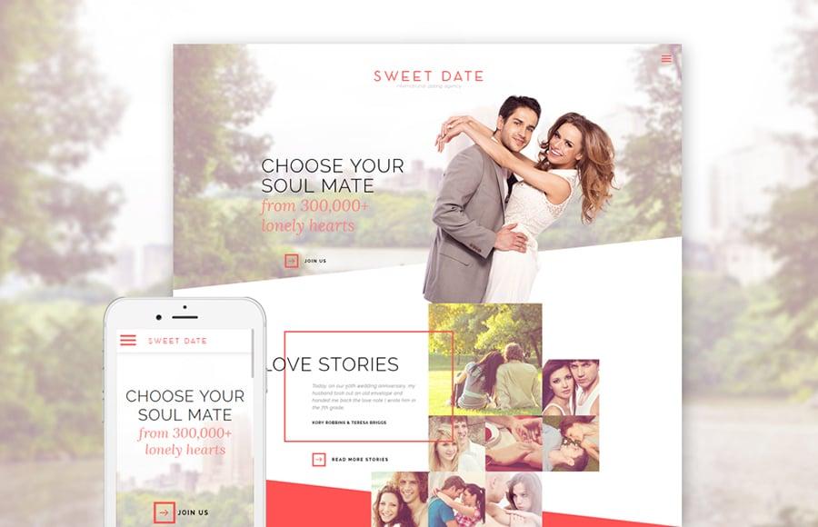 Dating Responsive Website Template