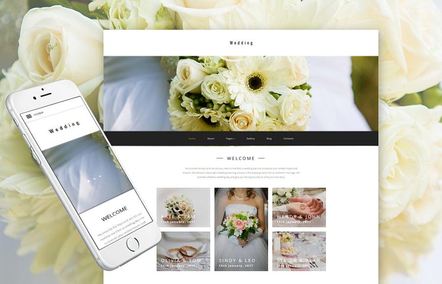 Wedding Planner Joomla Template