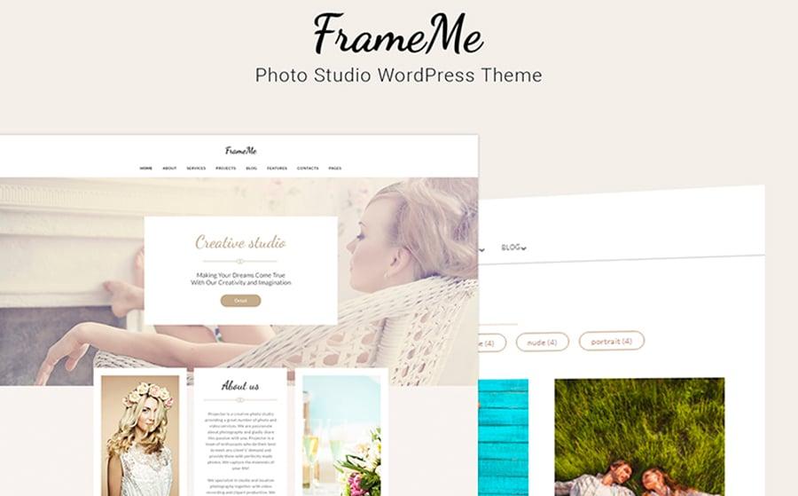 FrameMe - Photography Studio WordPress Theme.