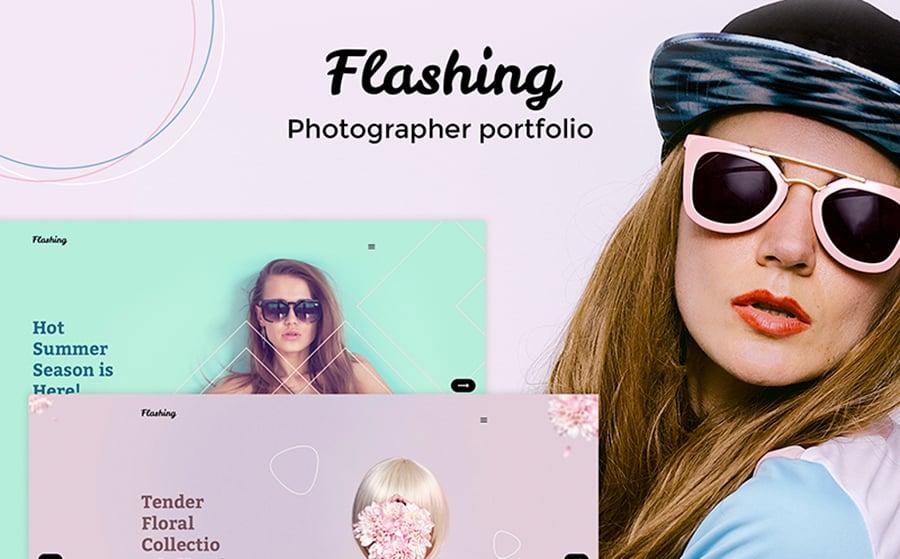 Flashing - Photographer Portfolio WordPress Theme.
