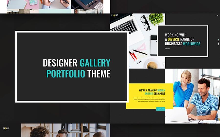 Esquiz - Design Studio WordPress Theme.