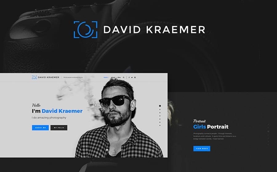 David Kraemar - Photographer WordPress Theme.