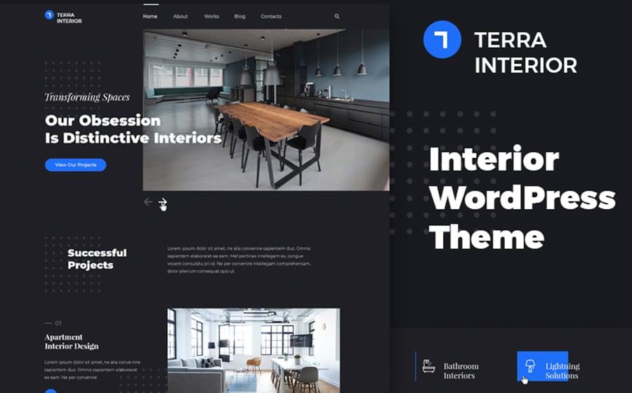 Terra Interior - Interior Design WordPress Theme.