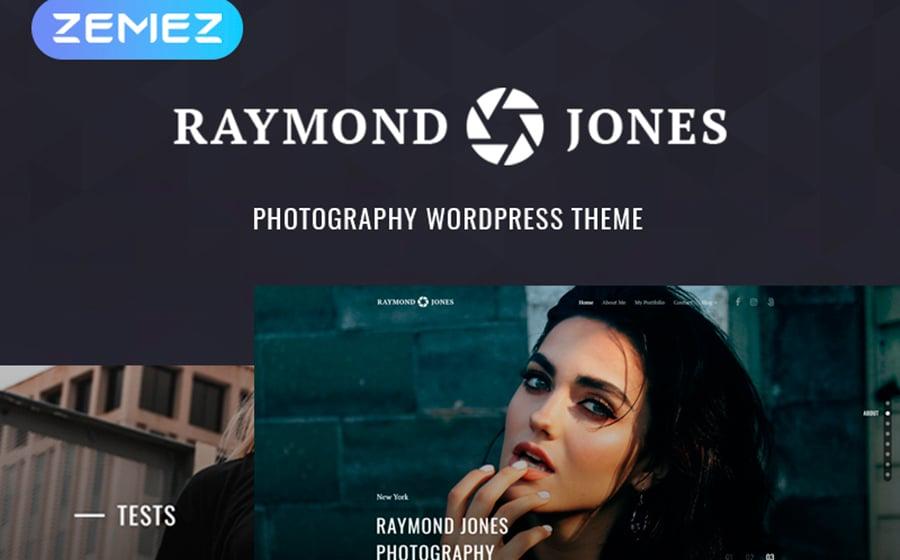 Raymond Jones - Photographer Portfolio Landing Page WordPress Theme.