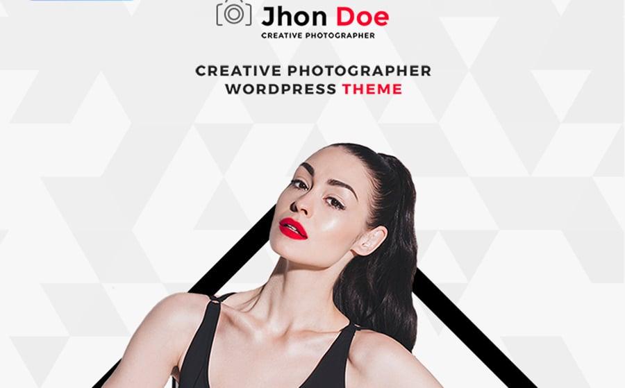 Jhon Doe - Photographer Portfolio WordPress Theme.