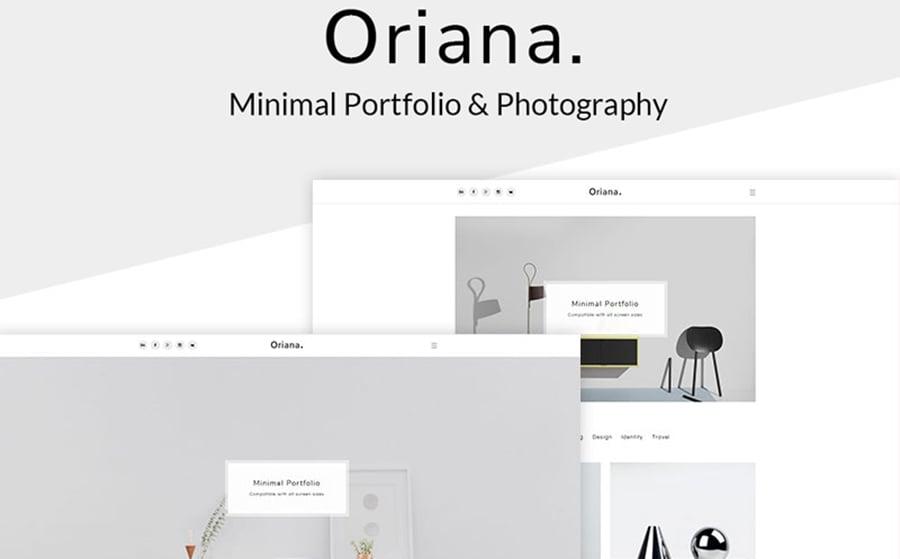 Oriana - Minimal Portfolio & Photography WordPress Theme.