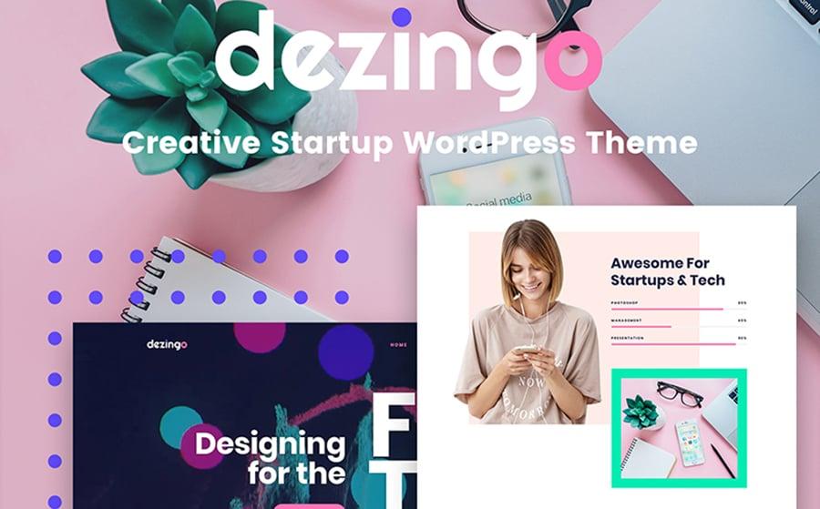 Dezingo - Creative Startup WordPress Theme.