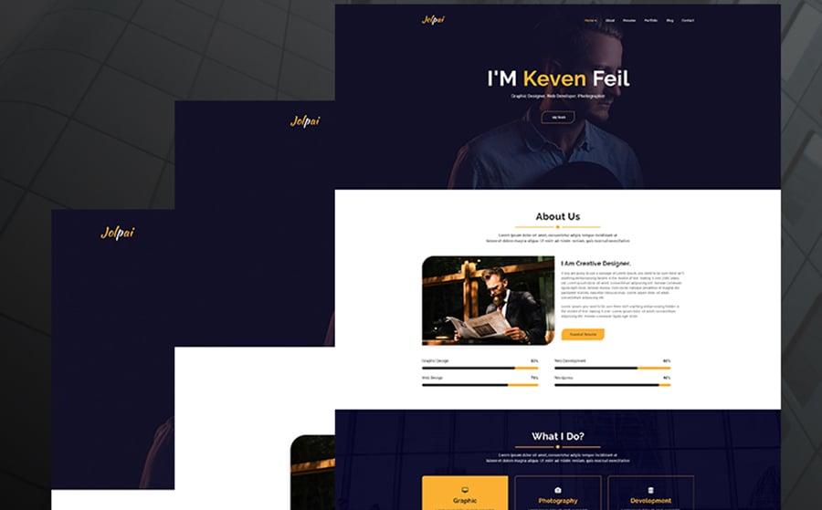 Jolpai - One page portfolio theme WordPress Theme.