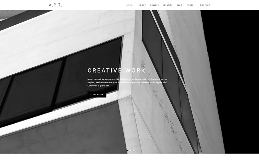 Art - Minimal Portfolio & Photography WordPress Theme.