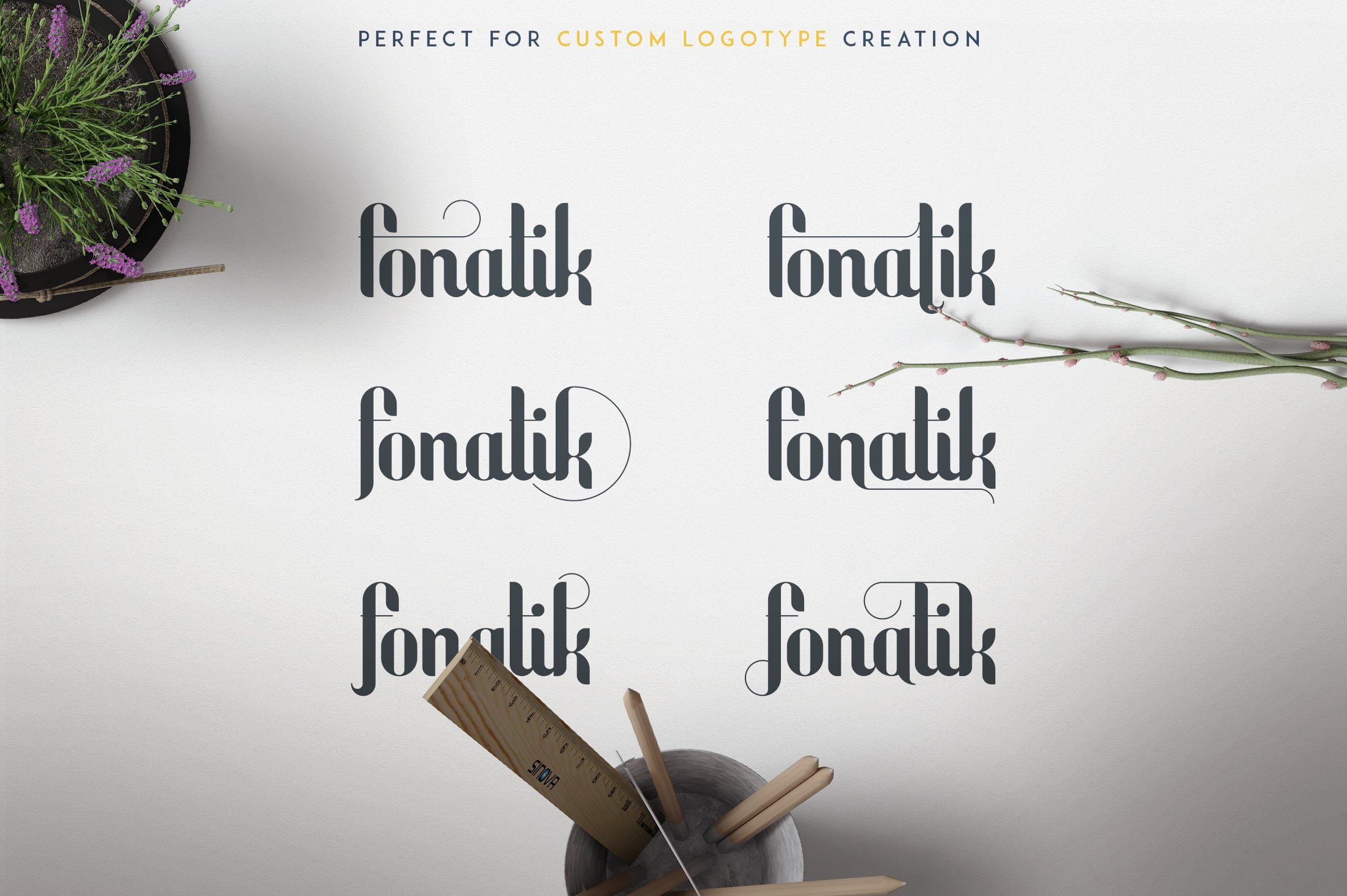 Fonatik Display Font + Book of Wonders - just $19 - 8 1