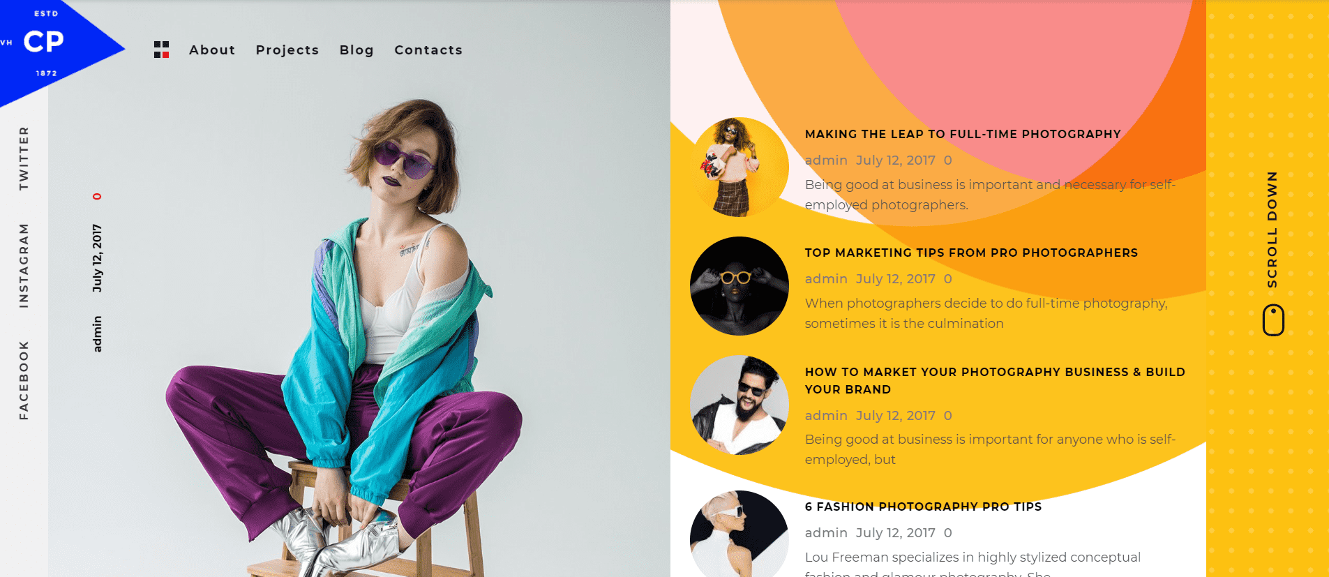 Bright and stylish for brave photographers.