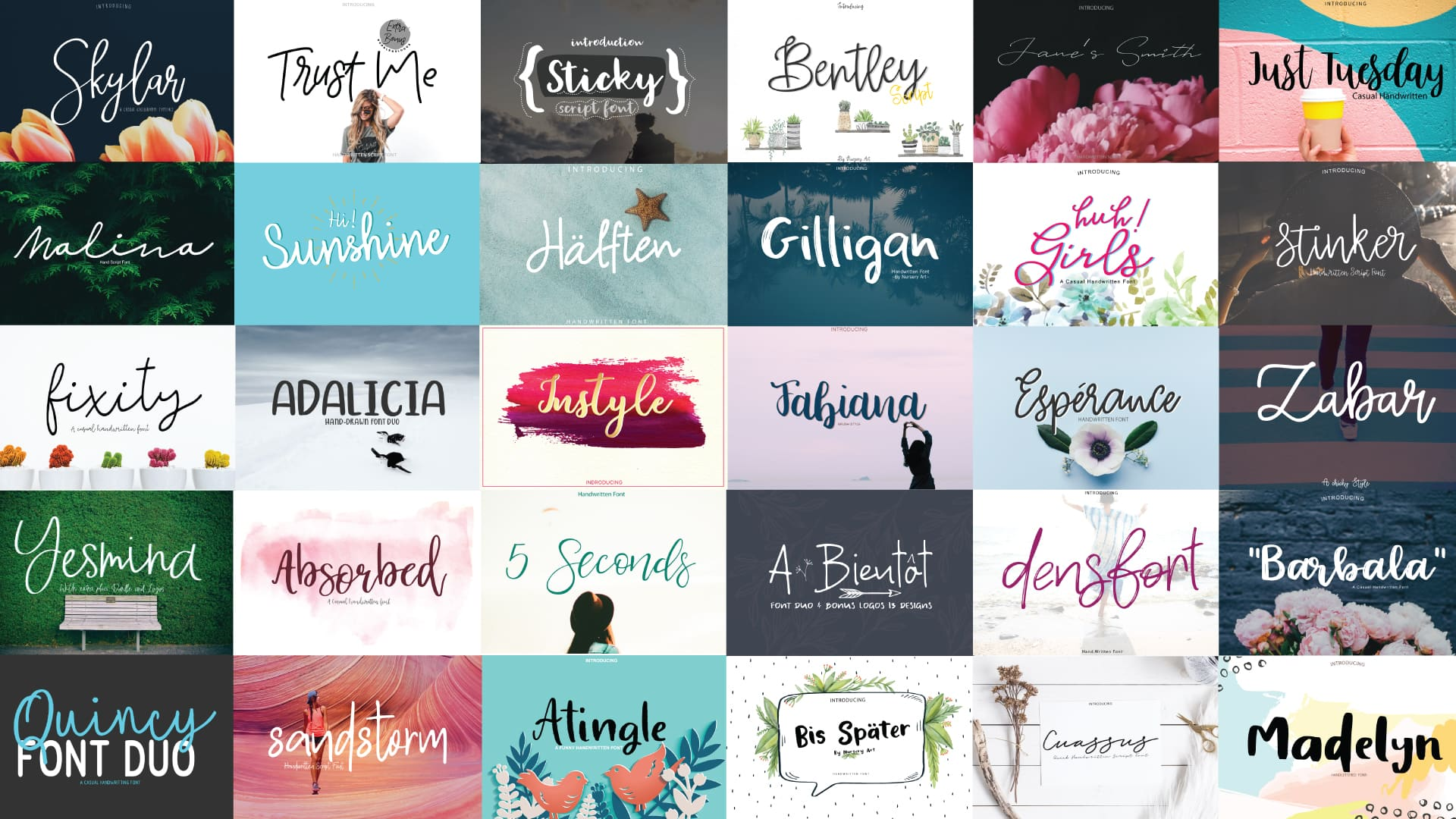95+ Best Hand Lettering Fonts (Premium and Free) To Type the Most Important Words - present03 min