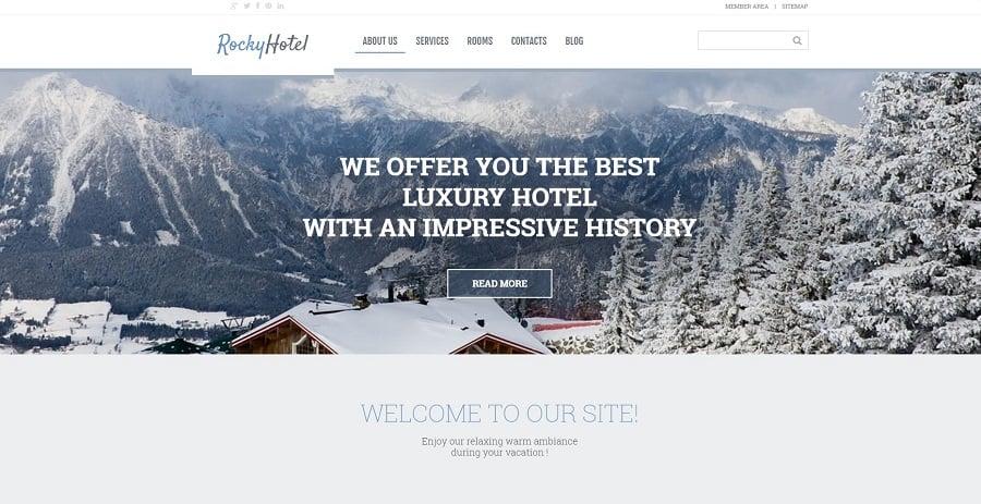 Rocky Hotel WordPress Theme