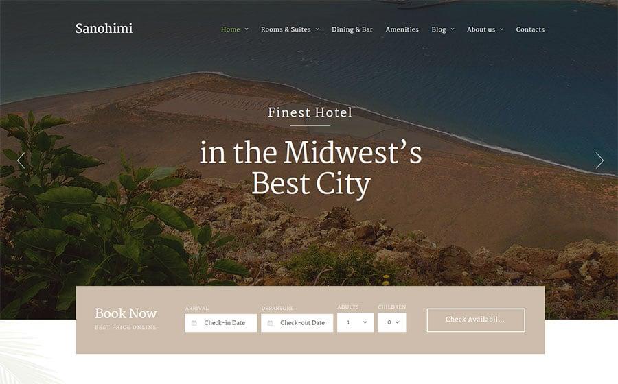 Sanohimi Exotic Hotel WordPress Template
