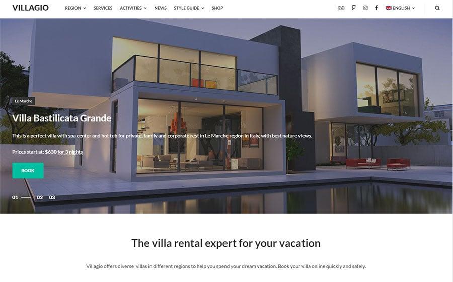 Villagio - Property Booking WordPress Theme