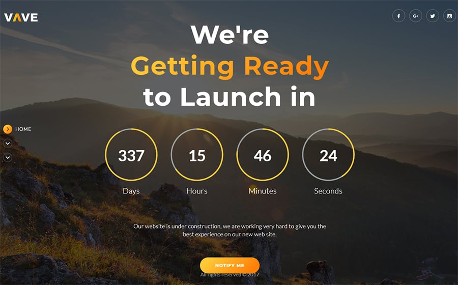Coming Soon HTML5 Website Template